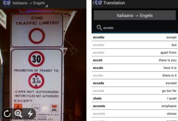 Real Time vertalen met Word Lens