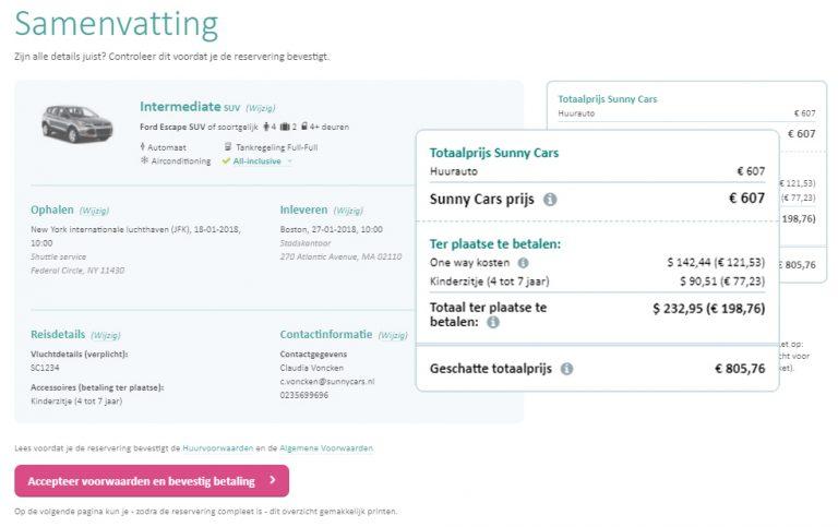 voorbeeld-kosten-huurauto-samenvatting