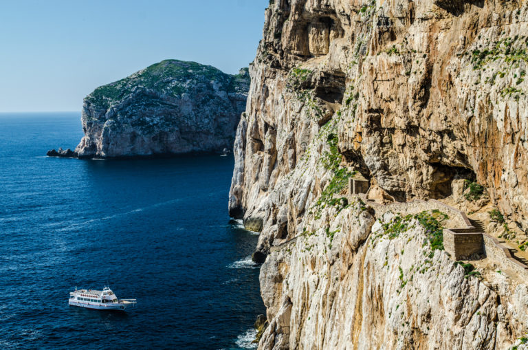 yacht-and-stairways-in-capo-caccia