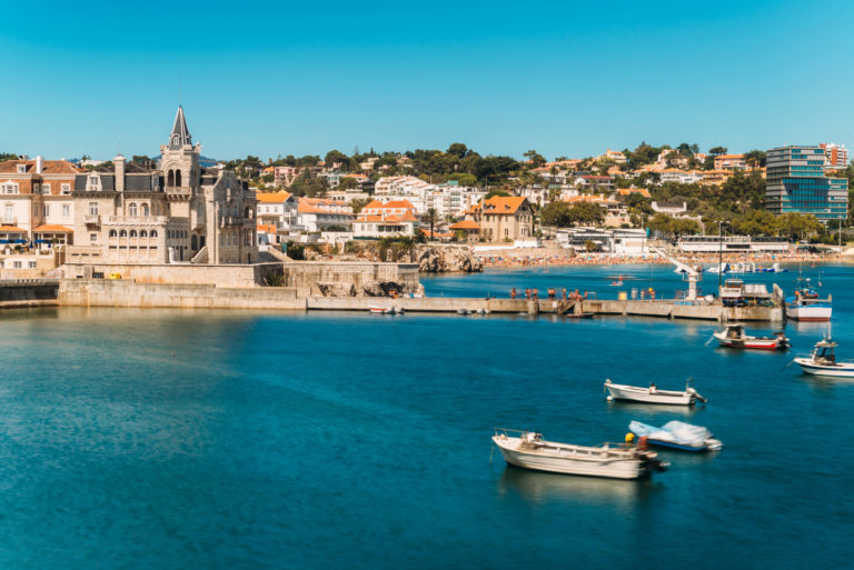 beach-town-and-dock-of-cascais-at-summer-portugal